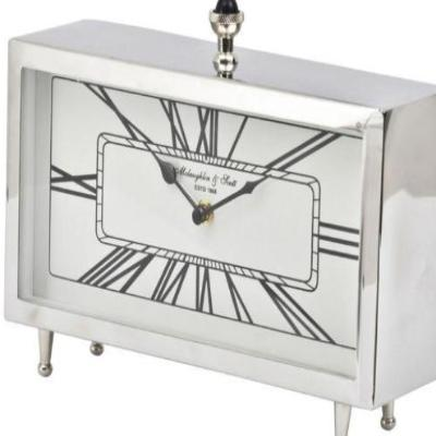 Nebolo Nickel Rectangular Table Clock