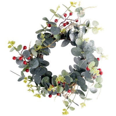 Red Berry and Eucalyptus Wreath