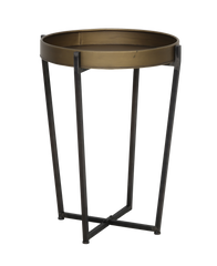 Tortola Side / Occasional Table in Bronze and Black Metal
