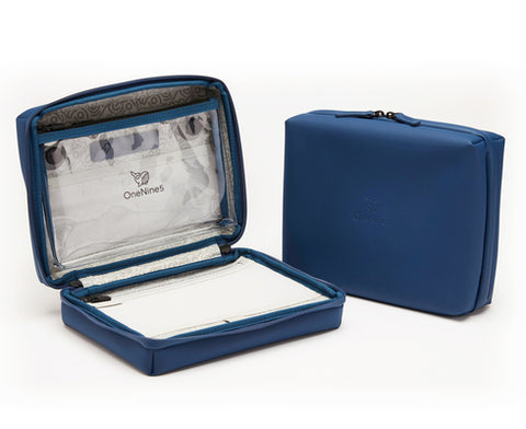 Eco-Conscious Travel Wash Bag With 100% Recycled Plastic Lining, Blue