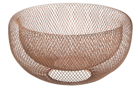 Rose Gold Fruit Bowl, wire bowl