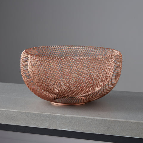 Rose Gold Wire Bowel, fruit bowel, decorative wire bowel