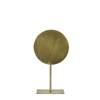 Basim ornament on a base, highly sculptural, bronze metal