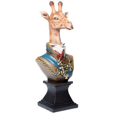 Giraffe Bust in Military Uniform, Small