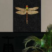 Dragonfly poster and black frame, 30x40cm