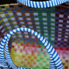 Gladys & Charles, The Wag Basket, handwoven, recycled materials
