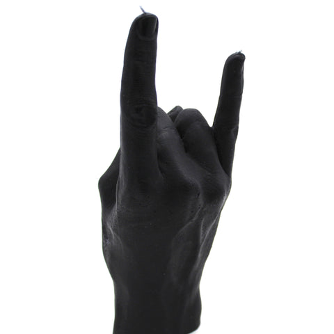 You Rock Black Hand gesture candle, handmade