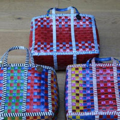 Gladys & Charles, The Wag basket, mowgs, bag, recycled basket, handwoven