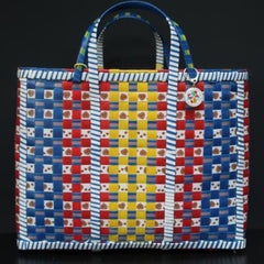 Gladys & Chales, The Wag Recycled Basket, handwoven, plastic recycled strapping