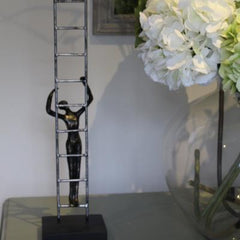 Antique Bronze Ladder Sculpture