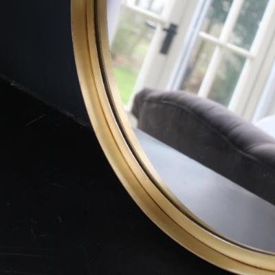 Medium BITA round mirror, brass frame, 50 cm