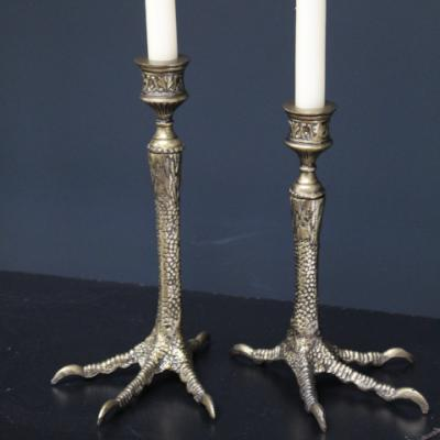 Quirky and Unique Bird Feet Brass Candle holders (set of 2)