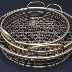 Kedah bronze set of three bronze baskets, trays