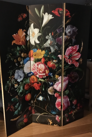 Dutch Floral Room Screen