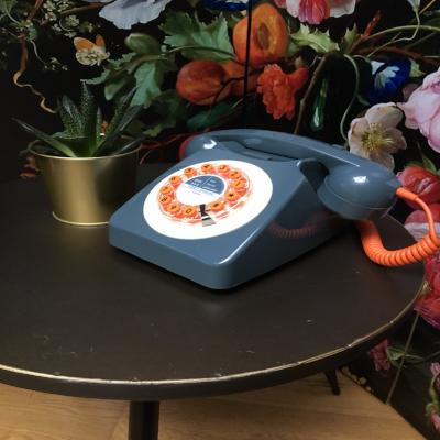 746 Retro Grey Orange Phone