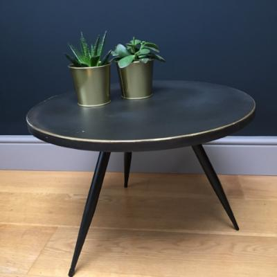 Tortola Retro Styled Bronze Side Table, Medium
