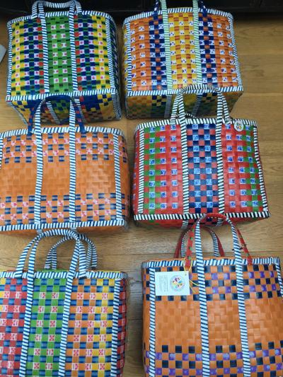 Gladys & Charles, Wag Basket, hand woven, recycled