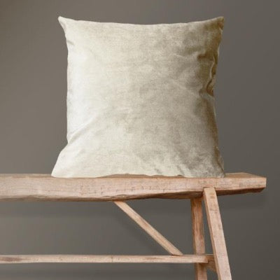 Creme De La Cream Velvet Cushion