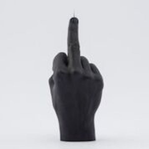 Hand gesture black FCUK candle