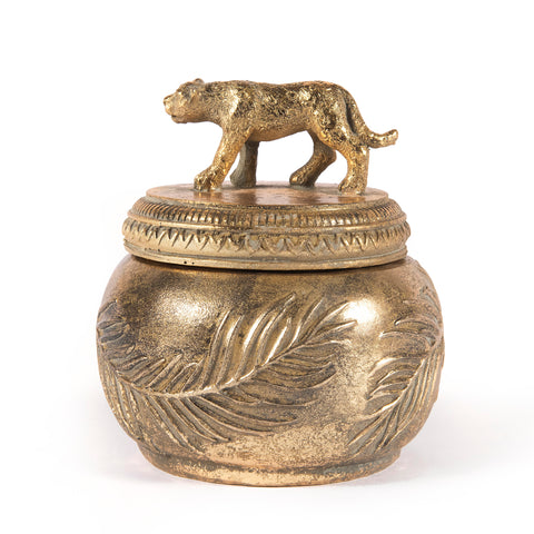 Crofton Leopard Trinket Box, Gold