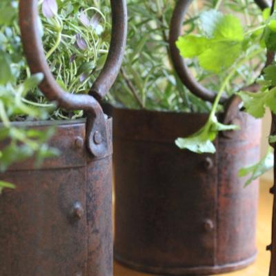 Vintage Metal Spice Pot
