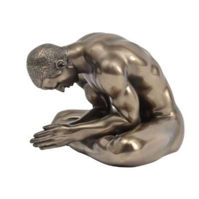 Keswick Meditating Bronze Man