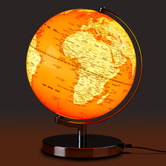 Orange & Chrome Globe LED Light 10""