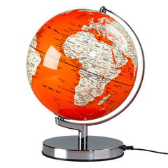 Globe light goldfish orange chrome base