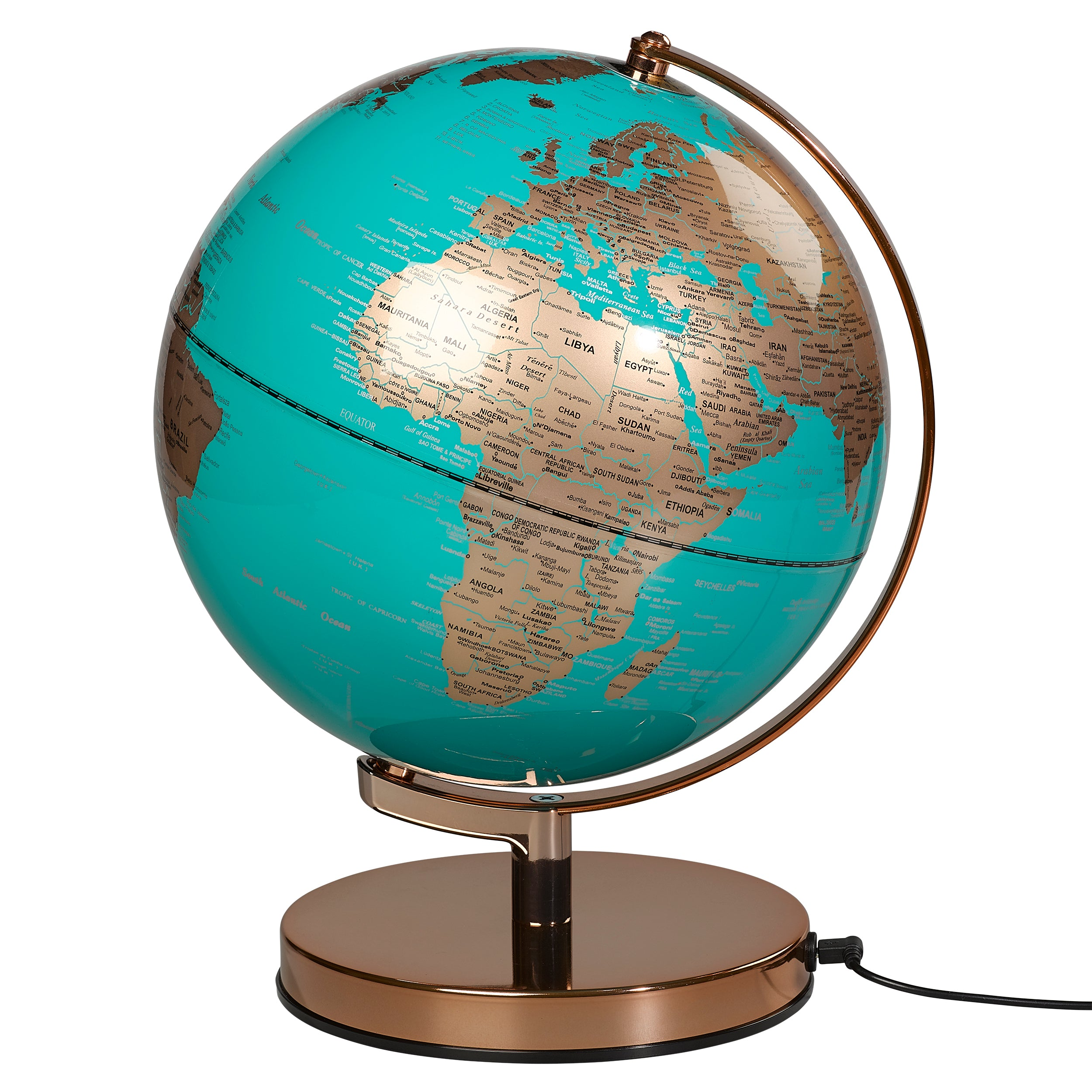 Globe Light Metallic Copper Azure