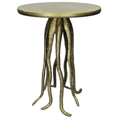 Antique Bronze Octopus side table with tentacle legs