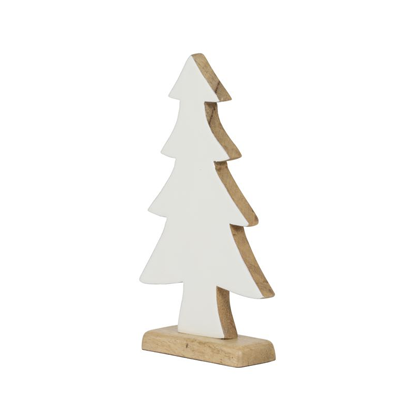 Christmas Tree, wood, white enamel, Christmas ornament, Christmas decoration