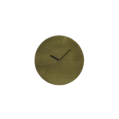 Waiwo circular wall clock antique bronze, black arms