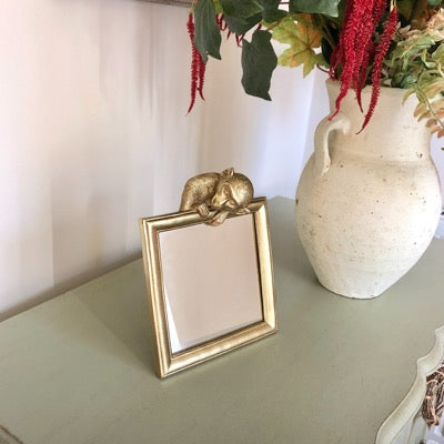 Gold Monkey Table Mirror