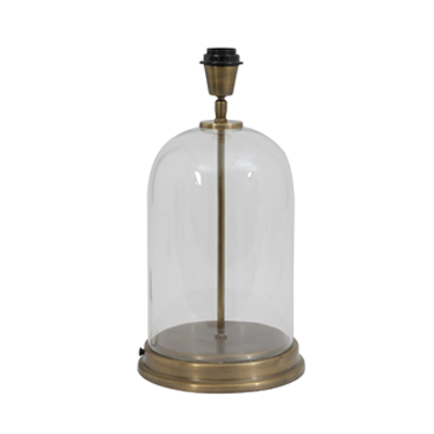 Bouala elegant, simple antique glass bell jar lamp base