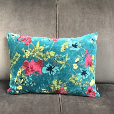 Teal Desire Cotton Velvet Cushion