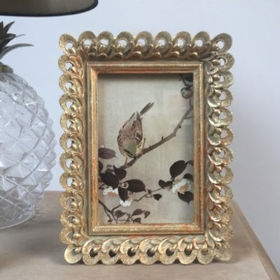 Odette Gold Resin Picture Frame, 4x6cm