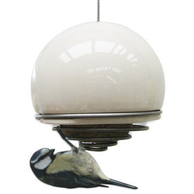 Birdball Belle Bird Feeder, White