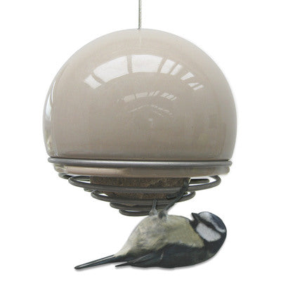 Birdball Belle Bird Feeder, Mushroom