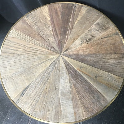 Belmore Recycled Elm and Concrete Side Table
