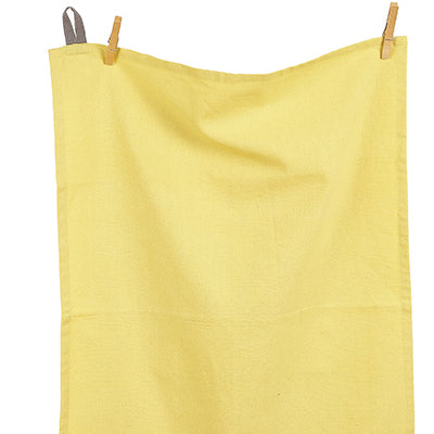 Tuscan Yellow Barista-Style Tea Towel, British Colour Standard