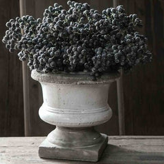 Birkdale Square Ceramic Vase. Made from stoneware in stone/grey colour.