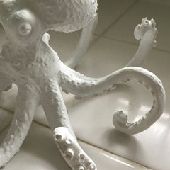 White Octopus Sculpture