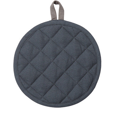 Pot Holder Barista-Style in Gunmetal Grey British Colour Standards, featuring a loop for easy use, in gunmetal grey