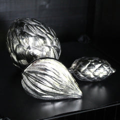 Silver Aluminium Nypa Fruit Sculpture