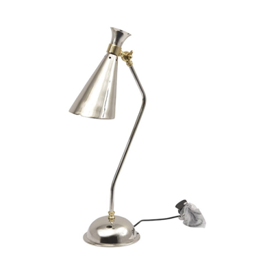 Nickel and bronze, table lamp, desk lamp