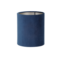 Velour cylinder lampshade in petrol blue, 15 x 15 x 17 x 5 cm