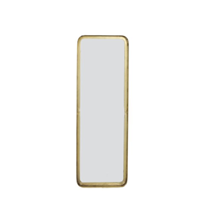 Rectangle, brass mirror, thin metal frame with inset glass