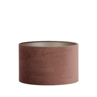 Velour cylinder lamp shade dusky pink velour, 35 x 35 x 21 cm