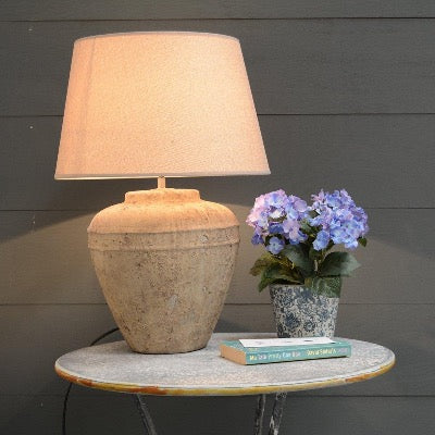 Lamp Ceramic Marius with Taupe Shade