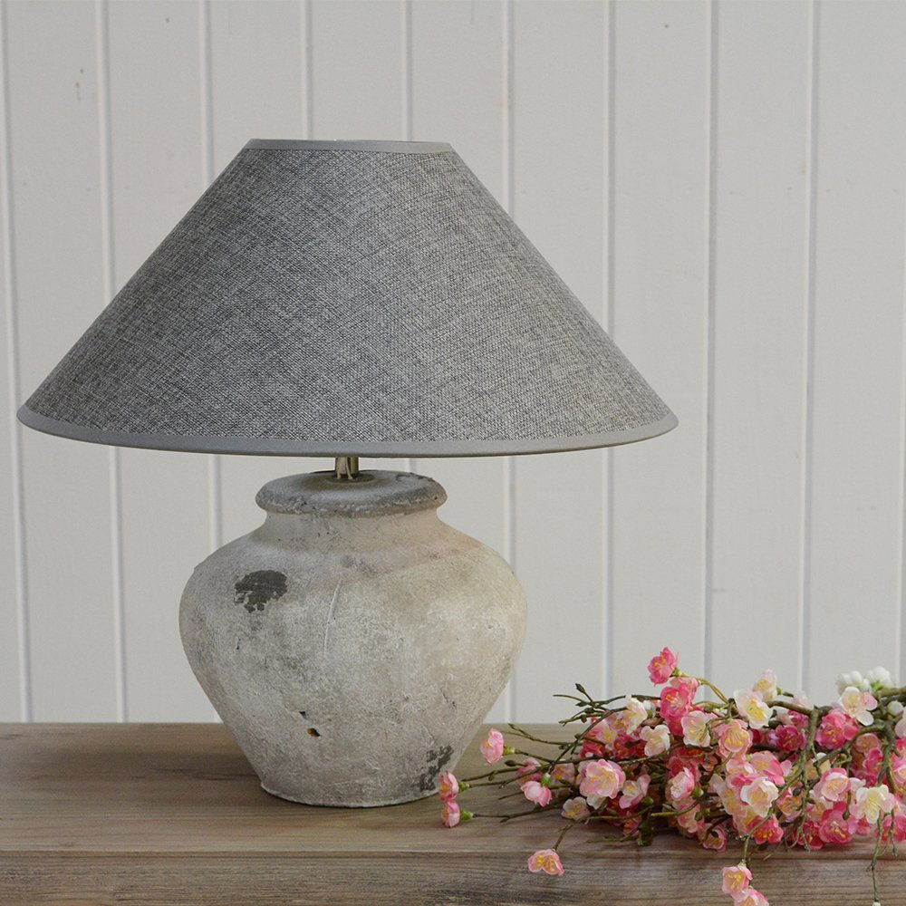 Fabio Ceramic Table Lamp With Grey Shade